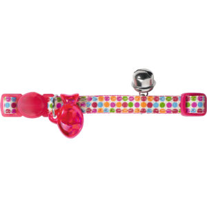 Cat Collar Seventies Design, with Bell Pink