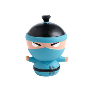 Dog Toy Ninja Design 9cm Blue