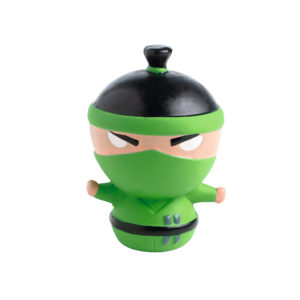 Dog Toy Ninja Design 9cm Green