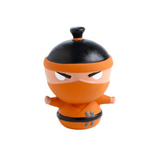 Dog Toy Ninja Design 9cm Orange