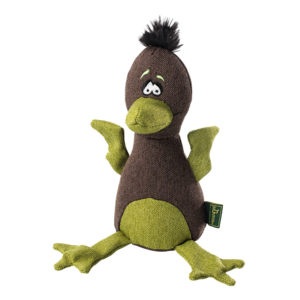 Hunter Dog Toy Canvas Bird, Brown/Green approx. 20 cm