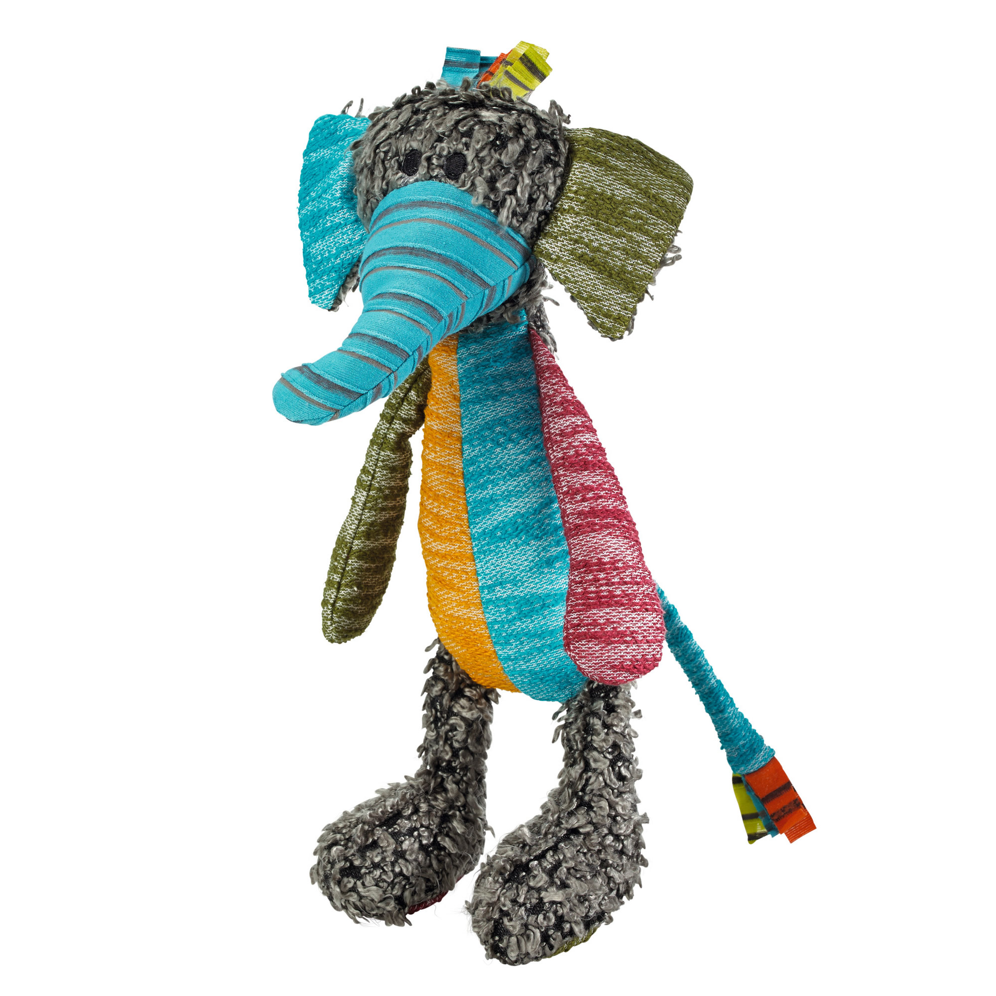 Hunter Tough Toy Patchwork Hobbs Elephant Plush Chew Dog Toys X