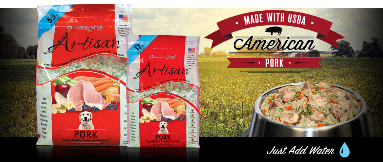 Artisan pork Dog Food Grain Free