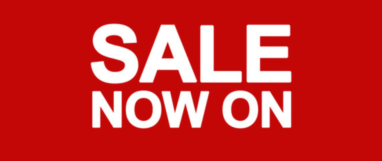 Sale Now On Web Banner