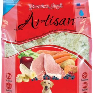 Grandma Lucys Freeze Dried Grain Free Pet Dog Food Antibiotic Free Pork GMO Free Veg Recipe makes 7 kgs Vet Approved