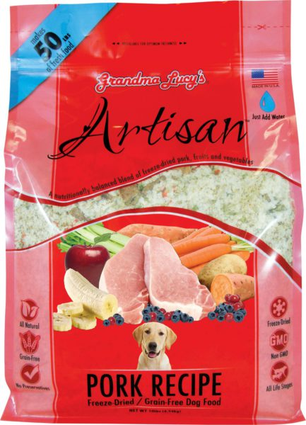 Grandma Lucys Freeze Dried Grain Free Pet Dog Food Antibiotic Free Pork GMO Free Veg Recipe makes 22 kgs Vet Approved