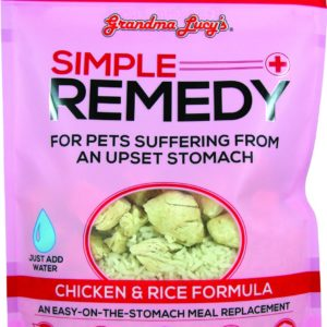 Grandma Lucy Freeze Dried Pet Dog Food Antibiotic Free Chicken GMO Free Rice Simple Remedy for Upset Stomach Vet Approved 200g