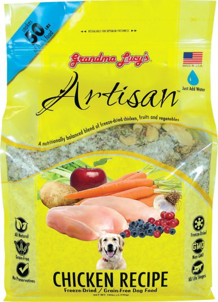 Grandma Lucys Freeze Dried Grain Free Pet Dog Food Antibiotic Free Chicken GMO Free Veg Recipe makes 22 kgs Vet Approved